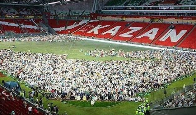 Казань стадионуна 10 миң мусулман чогулду